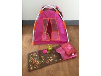 "Our Generation 18"" Dolls camping tent set with sleeping bag"