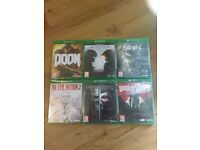 Xbox One Games - Doom, Halo 5, Dishonoured 2, Fallout 4, Wolfenstein 2 & The Evil Within 2