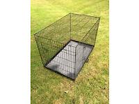 Extra Large Dog Cage - Black - Hardly Used - Folds Flat - £30