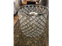 Silver crystal style lampshade Vgc