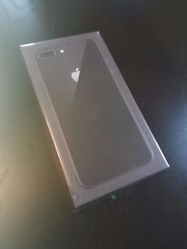 APPLE IPHONE 8 PLUS SPACE GREY 64GB UNLOCKED NEW. SCREEN PROTECTOR AND CASE INCLUDED