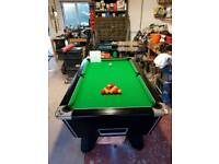 6ft Black Supreme Winner Pool Table with New Cloth