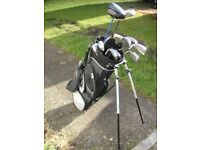 Set of Bayhill clubs and stand bag