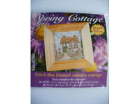 Two mini cross stitch kits - brand new to make - with frames too
