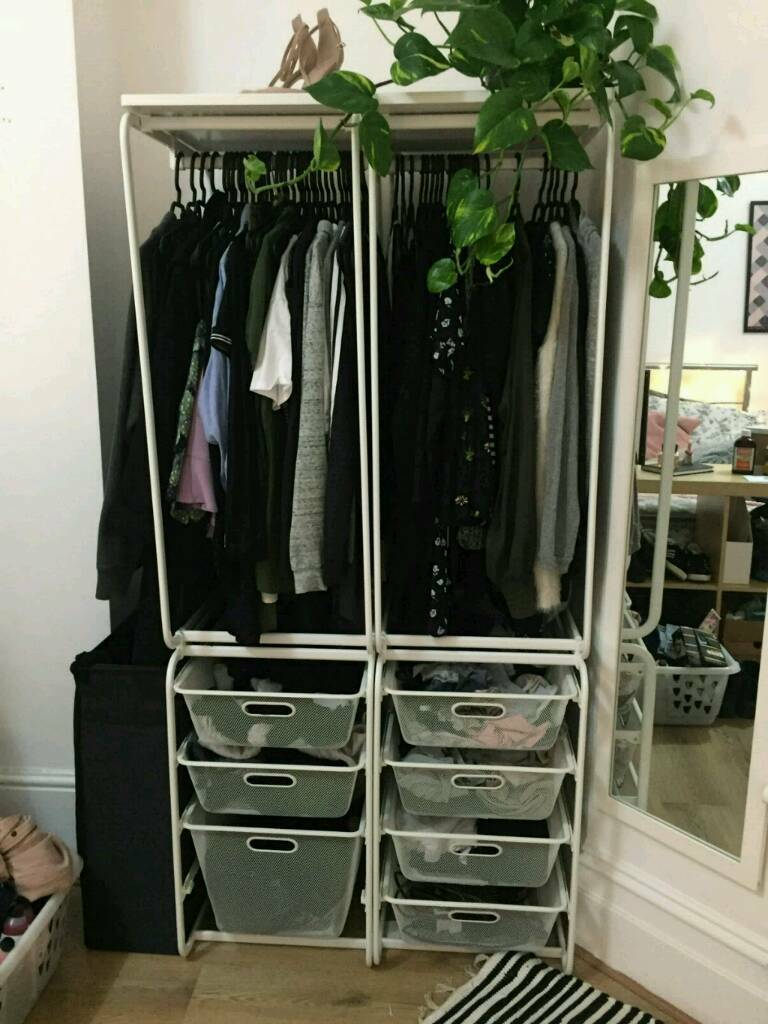 Algot ikea open storage unit / wardrobe