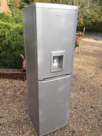 SILVER FRIDGE FREEZER WITH WATER DISPENCER