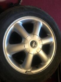 Mini one alloy with tyre