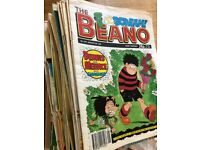 Beano comics, large bundle selection from years 1986 -1993