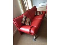 Paul Smith genuine red lether sofa set including