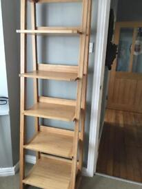 Light oak ladder shelf