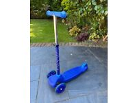 Child's Blue Scooter