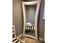 White wooden full length mirror