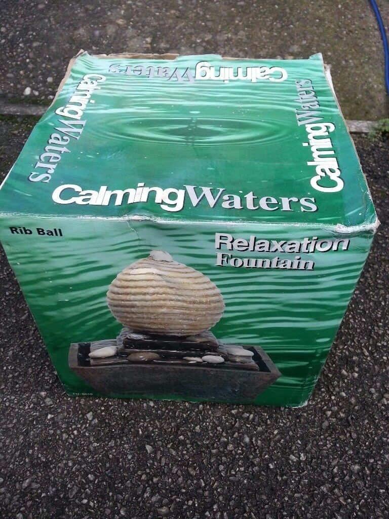 Hi for sale Relaxation Fontain rib ball never used still in original box! Can deliver or post it!