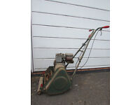 "VINTAGE WEBB 14"" Petrol Cylinder Lawnmower, Power drive & grass box"