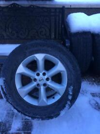 Nissan Navara wheels and tyres x 4