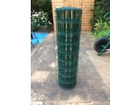 Plastic coated wire fencing 25 metres