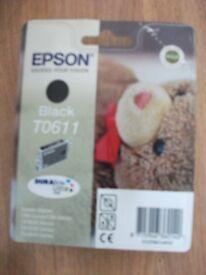 Epson T0611 Black ink cartridges 6 off