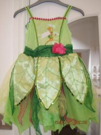 BEAUTIFUL DRESSING UP DRESS TINKERBELL - age 3-6 years IMMACULATE CONDITION +FREE TINKERBELL EXTRAS