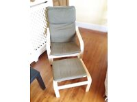 As new - 9 months IKEA Rocking Chair and feet stool - collection