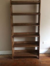 Solid wood bookcase and desk for sale in Southsea- very good condition!