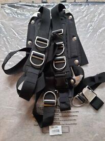 Subapro Xtek 27kg Lift wing and Harness with stainless steal backplate.