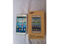 Brand New Boxed Unlocked Samsung Galaxy Express I8730 White 4G LTE Smart Phone Mobile Cell