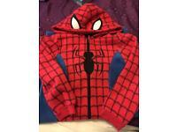 Spider-Man fleece onsie