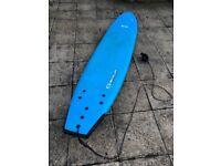 8ft foam top surfboard.