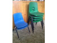 VERY STRONG STACKABLE KIDS CHAIRS X6