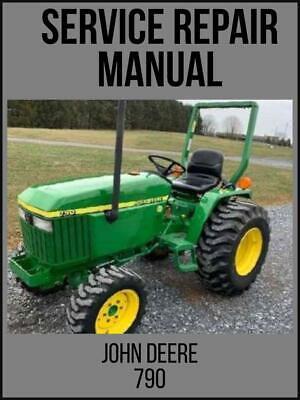John Deere 790 Compact Utility Tractor Service Technical Manual Tm2088 Usb Drive
