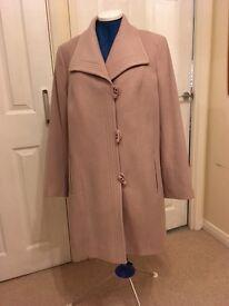 Jacques Vert Lady's 3/4 Coat, Wool & Cashmere Size 16