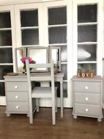 Pine dressing table+Bedside Free Delivery Ldn🇬🇧shabby chic
