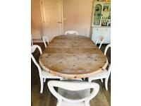 Dining table and chairs - Shabby Chic