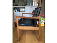Mid century dining chairs with arms