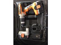 WORX 376.2 24V CORDLESS HAMMER DRILL C/W 2 BATTERIES,CHARGER AND CASE