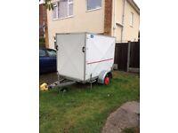 Box Trailer Latham Roller door. Jockey wheel.Drop legs.Lights.Hitch locks,wheel lock.Spare wheel