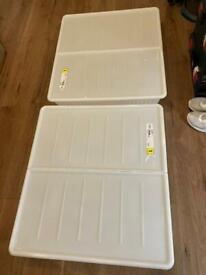 2x under bed storage boxes