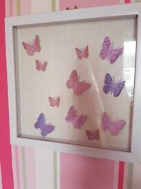 Butterflies in photo frame