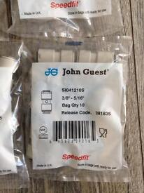 "John Guest Speedfit Straight Connector - Superseal X Speedfit SI041210S 3/8""-5/16"" r/c 381835 x 22"