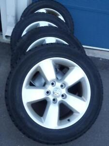 DODGE RAM 2015 FACTORY OEM 20 INCH WHEELS WITH SENSORS IN EXCELLENT CONDITION