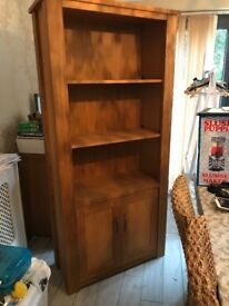 Solid oak bookcase. Cambridge range in next. £200