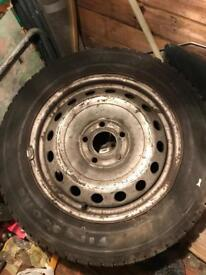 winter tyres with rims for the van tires with the C index