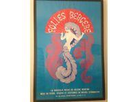 Original Folies Bergere lithograph framed poster