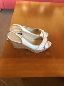 Nine West White wedge shoes