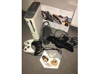 Xbox 360 with Kinect games and accessories