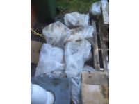 Aggregate - approx 1 ton divided into individual bags for easier collection free