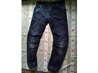 Mens Denim & Co Cuffed Jeans W34 L32