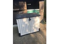 Garden Storage Unit, under 2 years old. Woodland range, flat packed and ready to go