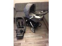 Teutonia Cosmo Pram stroller pushchair buggy travelsystem