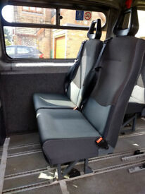 Minibus/crewbus/van seats with integral headrests and 3 point seatbelts - 7 remaining @ £15 each.
